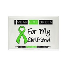 IWearLimeGreen (Girlfriend) Rectangle Magnet