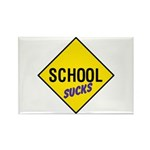 School Sucks Sign Rectangle Magnet (100 pack)