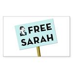 Free Sarah Palin Rectangle Sticker 10 pk)