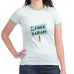 Free Sarah Palin Jr. Ringer T-Shirt