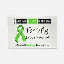 I Wear Lime Green (BIL) Rectangle Magnet