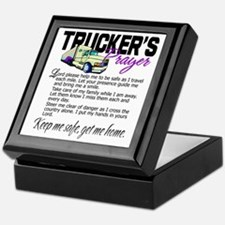 Trucker's Prayer Keepsake Box