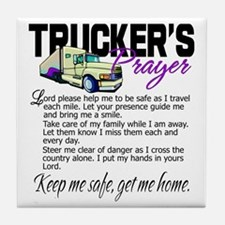 Trucker's Prayer Tile Coaster