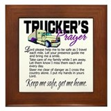 Truckers prayer Framed Tiles