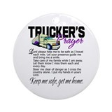 Truck driver Round Ornaments