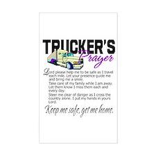 Trucker's Prayer Decal