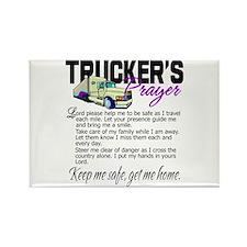 Trucker's Prayer Rectangle Magnet