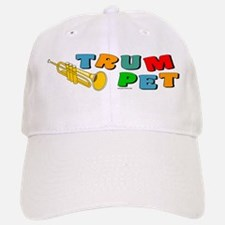 Colorful Trumpet Text Baseball Baseball Cap