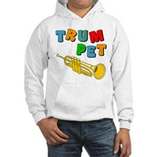Colorful Trumpet Text Hoodie