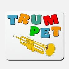 Colorful Trumpet Text Mousepad