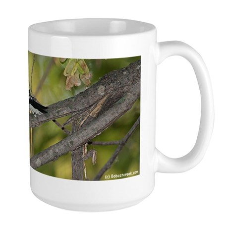 Downey Woodpecker Coffee Large Mug