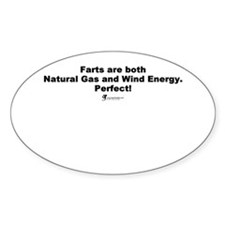 Farts are Perfect - Oval Decal