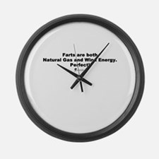 Farts are Perfect - Large Wall Clock