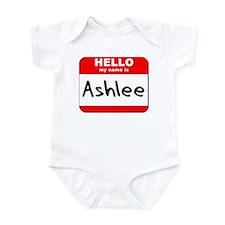 Hello my name is Ashlee Onesie