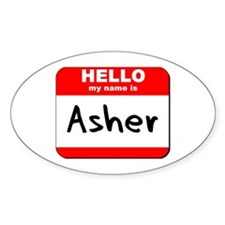 Hello my name is Asher Oval Decal