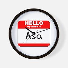 Hello my name is Asa Wall Clock