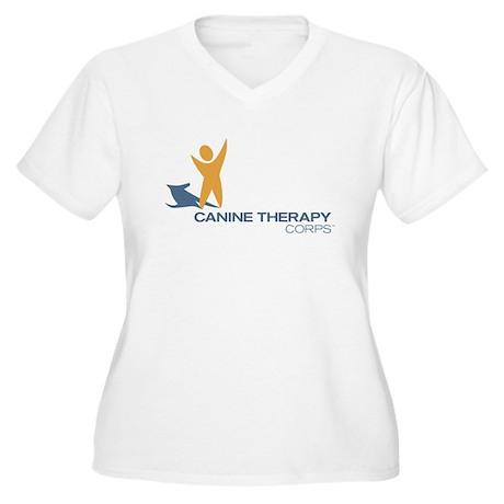 Logo Women's Plus Size V-Neck T-Shirt