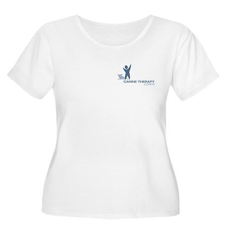 Blue Logo Women's Plus Size Scoop Neck T-Shirt