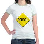School Sign Jr. Ringer T-Shirt