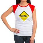 School Sign Women's Cap Sleeve T-Shirt
