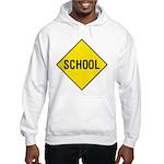 School Sign Hooded Sweatshirt