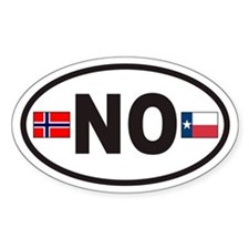Norway NO Euro Oval Sticker with Flags