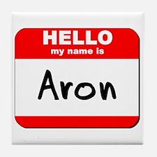 Hello my name is Aron Tile Coaster