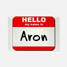 Hello my name is Aron Rectangle Magnet