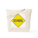 Yellow School Sign - Tote Bag