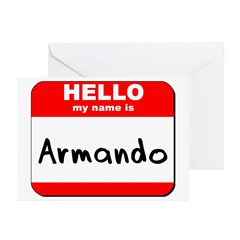 Hello my name is Armando Greeting Cards (Pk of 20)