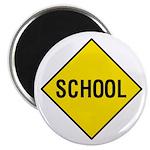 Yellow School Sign - Magnet