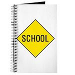 Yellow School Sign - Journal