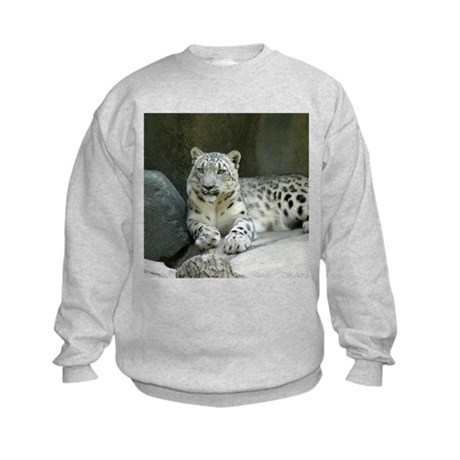 Snow Leopard M005 Kids Sweatshirt