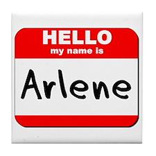 Hello my name is Arlene Tile Coaster
