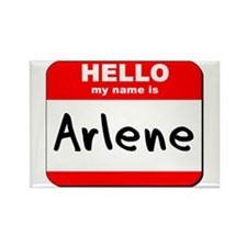 Hello my name is Arlene Rectangle Magnet