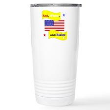 Red White and Blaine Travel Coffee Mug