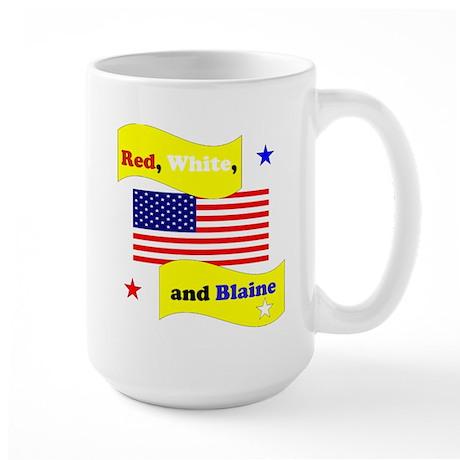 Red White and Blaine Large Mug