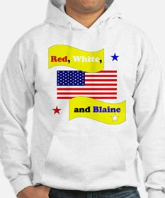 Red White and Blaine Hoodie