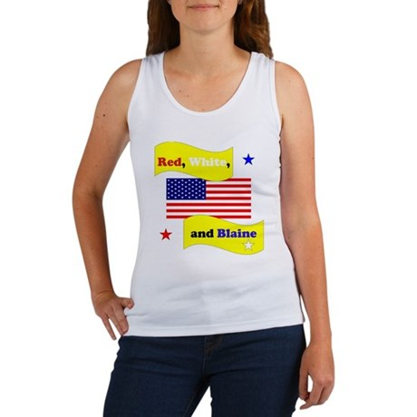 Red White and Blaine Women's Tank Top