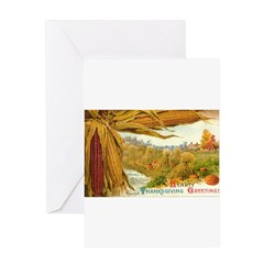 Hearty Thanksgiving Greetings Greeting Card