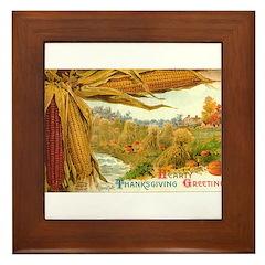 Hearty Thanksgiving Greetings Framed Tile