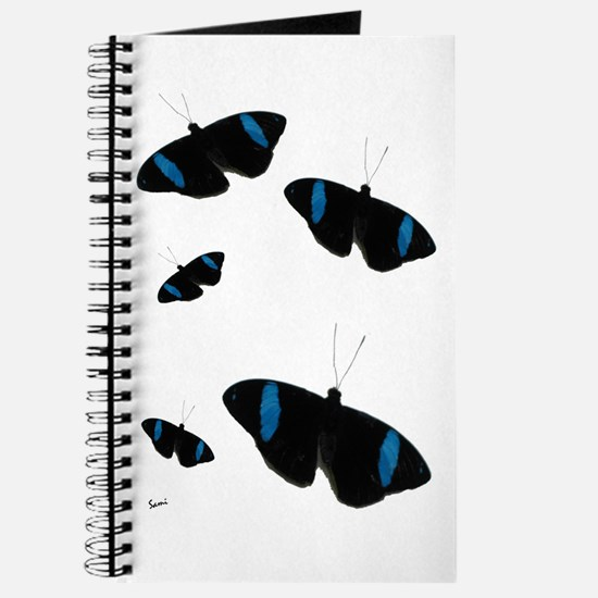 Black With Blue Butterfly Journal