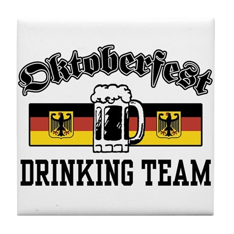 Oktoberfest Drinking Team Tile Coaster