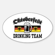 Oktoberfest Drinking Team Oval Decal