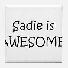 Cute Sadie Tile Coaster
