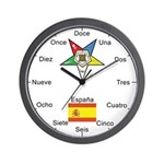 OES Spanish Wall Clock