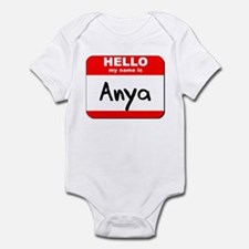 Hello my name is Anya Infant Bodysuit