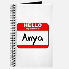Hello my name is Anya Journal