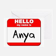 Hello my name is Anya Greeting Card