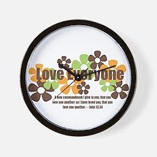 John 13:34 - Love Everyone Wall Clock